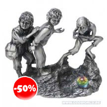 The Lord Of The Rings Frodo, Sam and Gollum Miniature Statue