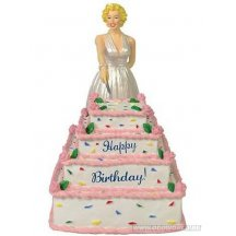 Marilyn Monroe Happy Birthday Cake Statue