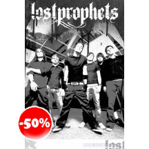 Lost Prophets Black And White Poster