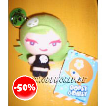 Oopsy Daisy Green Head Retro Girl Keychain