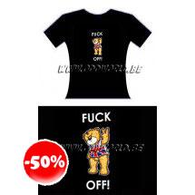 Vic Fuck Off British Bad Taste Bears T-shirt