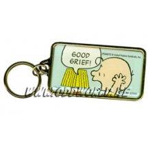 Peanuts Zinc Keyring Charlie Brown Snoopy
